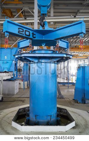 Concrete Pipe Factory Interior At Working Process