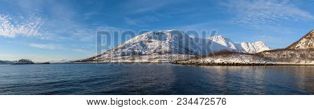 Bright Landscapes Taken From The Waters Of The Fjords Around Tromsø, Norway