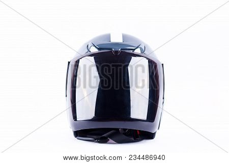 Motorcycle Helmet Is A Device To Reduce The Severity Of Accidents  On White Background Helmet Safety