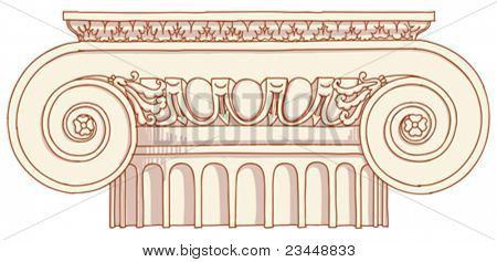 Hand draw sketch Ionic column based