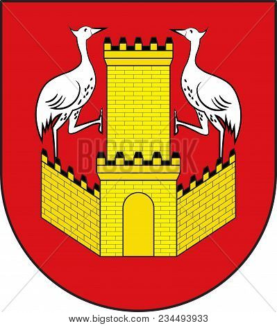 Coat Of Arms Of Kranenburg Is A Town And Municipality In The District Of Cleves In The State Of Nort