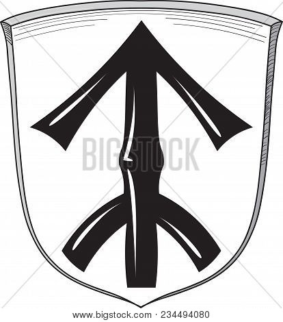 Coat Of Arms Of Straelen Is A Municipality In The District Of Cleves, In North Rhine-westphalia, Ger