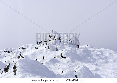 Group Of Mountaineers Reached The Top Of Mount Konzhakovskiy Kamen  - A