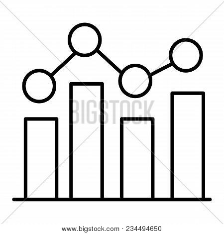Graph Icon In Trendy Flat Style Isolated On White Background. Chart Bar Symbol For Your Web Site Des