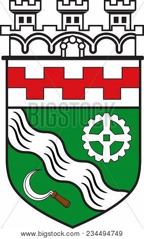 Coat Of Arms Of Hilden Is A City In North Rhine-westphalia Of Germany. Vector Illustration