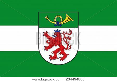 Flag Of Langenfeld Is A Town In The District Of Mettmann In North Rhine-westphalia, Germany. Vector