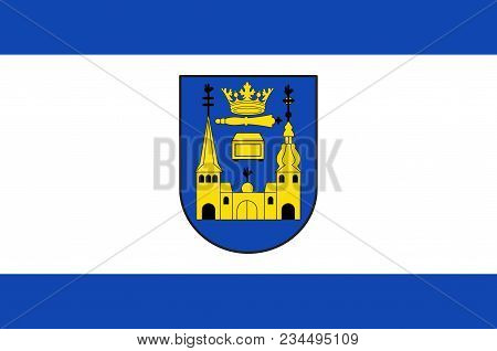 Flag Of Mettmann Is A Town In The Northern Part Of The Bergisches Land, In North Rhine-westphalia, G