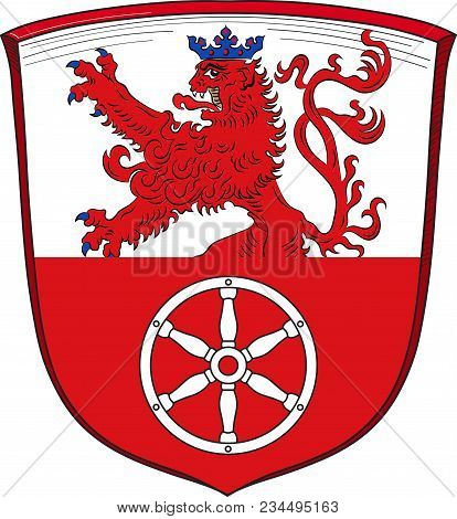 Coat Of Arms Of Ratingen Is A Town In The District Of Mettmann, In North Rhine-westphalia, Germany.