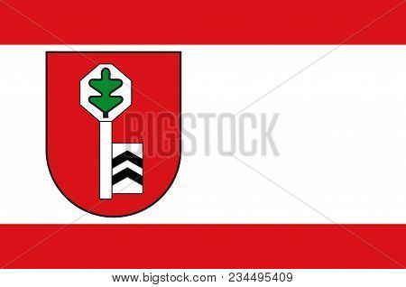 Flag Of Velbert Is A Large Town In The District Of Mettmann, In North Rhine-westphalia, Germany. Vec