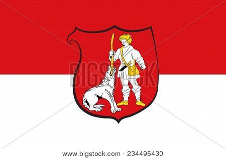 Flag Of Wulfrath Is A Town In The District Of Mettmann In North Rhine-westphalia, Germany. Vector Il
