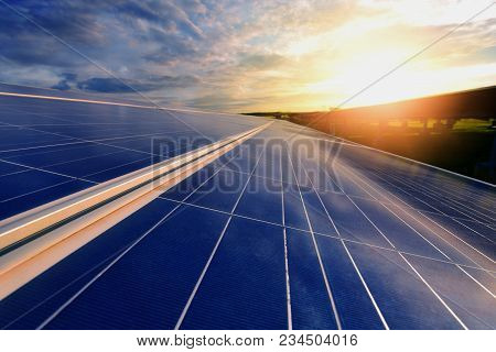The Sun Goes Up To The Sky In Order To Store The Solar Energy In The Solar Cell. It Is A Renewable E