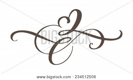 Heart Love Sign Forever. Infinity Romantic Symbol Linked, Join, Passion And Wedding. Template For T