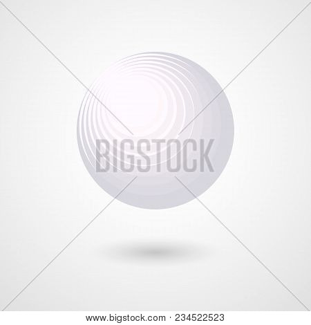 The Three-dimensional White Sphere Abstract Design Element Decorative Futuristic 3d Sphere Ball Circ