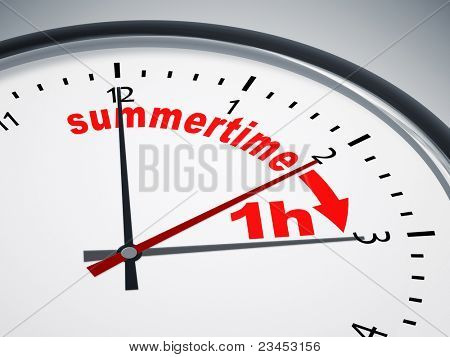 An image of a nice clock with summertime 1h