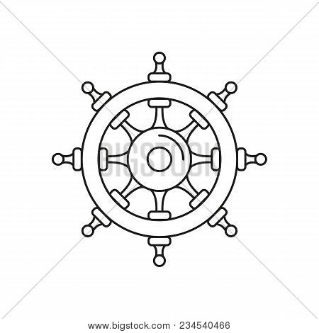 Wheel Of Ship Icon. Outline Wheel Of Ship Vector Icon For Web Design Isolated On White Background