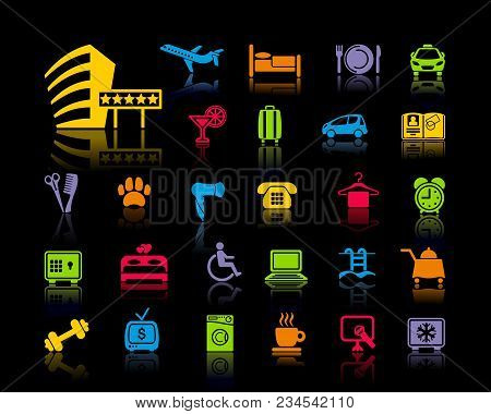 Icon On A Theme Of Hotel Service
