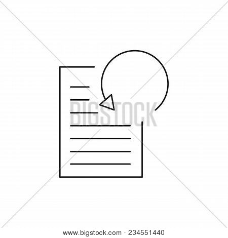 Data Processing Icon. Outline Data Processing Vector Icon For Web Design Isolated On White Backgroun