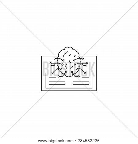 Ai Knowledge Icon. Outline Ai Knowledge Vector Icon For Web Design Isolated On White Background
