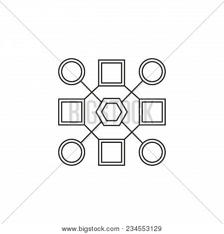 Pattern Recognition Icon. Outline Pattern Recognition Vector Icon For Web Design Isolated On White B