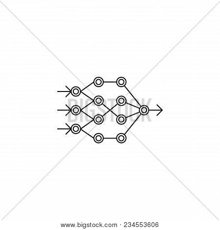 Artificial Neural Network Icon. Outline Artificial Neural Network Vector Icon For Web Design Isolate