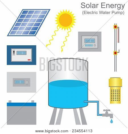 Solar Powered Pump Is A Pump Running On Electricity Generated By Photovoltaic Panels Or The Radiated