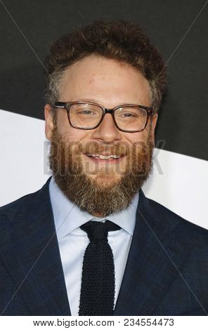 Seth Rogen at the Los Angeles premiere of 'Blockers' held at the Regency Village Theatre in Westwood, USA on April 3, 2018.