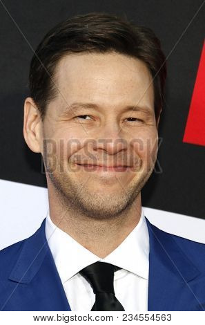 Ike Barinholtz at the Los Angeles premiere of 'Blockers' held at the Regency Village Theatre in Westwood, USA on April 3, 2018.