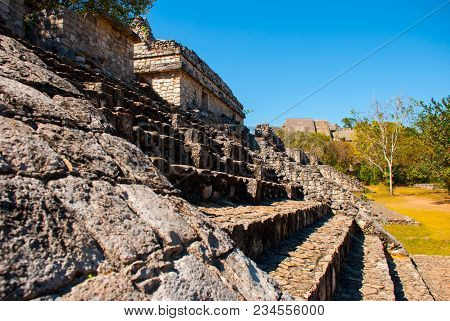 Majestic Ruins In Ek Balam, Ancient Mayan City.ek Balam Is A Yucatec Maya Archaeological Site Within