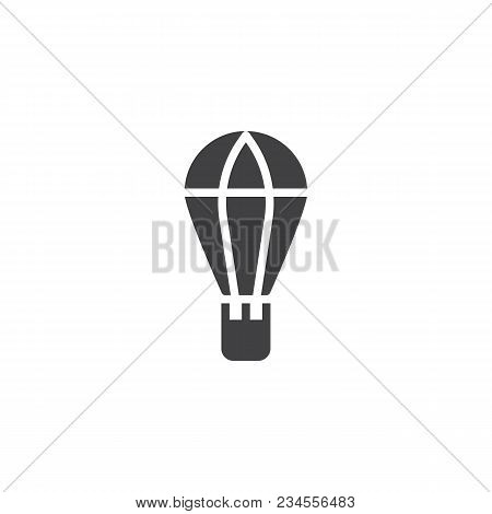 Hot Air Balloon Vector Icon. Filled Flat Sign For Mobile Concept And Web Design. Air Drop Box Simple