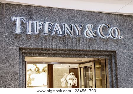 Indianapolis - Circa April 2018: Tiffany & Co. Retail Mall Location. Tiffany's Is A Luxury Jewelry A