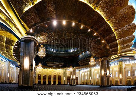 Kuwait Grand Mosque Interior - 07 January 2015 Kuwait-city, Kuwait