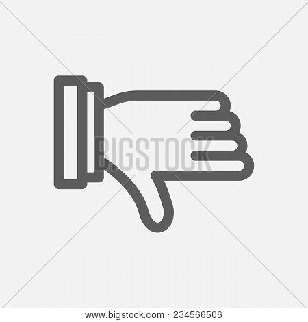 Thumb Down Icon Line Vector Photo Free Trial Bigstock