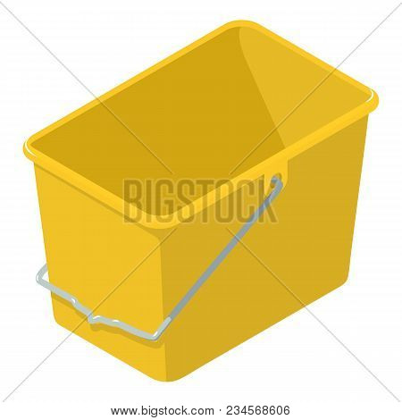 Home Bucket Icon. Isometric Illustration Of Home Bucket Vector Icon For Web