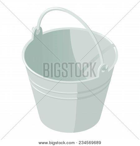 Garden Bucket Icon. Isometric Illustration Of Garden Bucket Vector Icon For Web