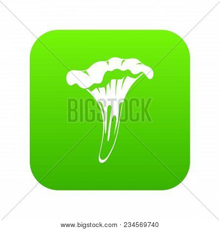Chanterelle Icon Digital Green For Any Design Isolated On White Vector Illustration