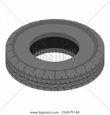 Car Tyre Icon. Isometric Illustration Of Car Tyre Vector Icon For Web