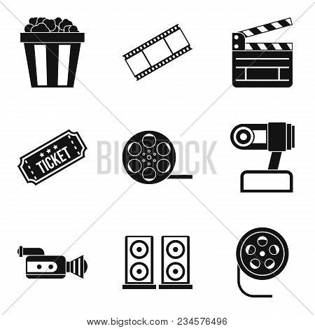 Video Clip Icons Set. Simple Set Of 9 Video Clip Vector Icons For Web Isolated On White Background