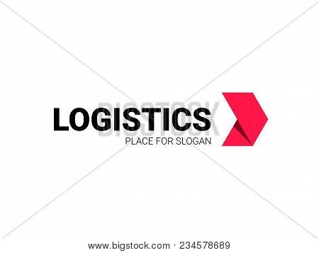 Transport Logistic Logo Of Express Arrow Moving Forward For Courier Delivery Or Transportation And S