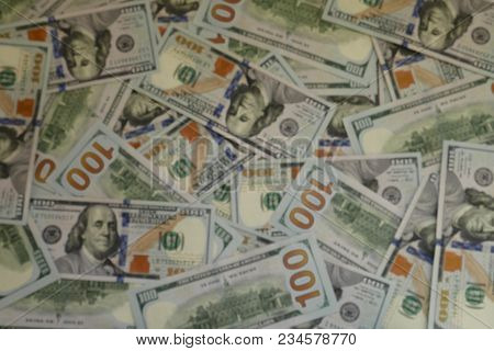 Blur Mode Of Usd Currency Bill Banknote Background As Financial Business Or World Economy And Stock