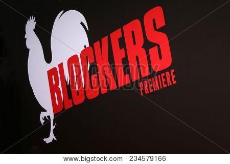 LOS ANGELES - APR 3:  Blockers Atmosphere at the