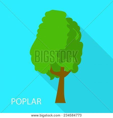 Poplar Icon. Flat Illustration Of Poplar Vector Icon For Web