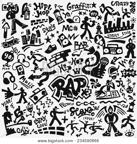 Rap Music Symbols Vector Photo Free Trial Bigstock