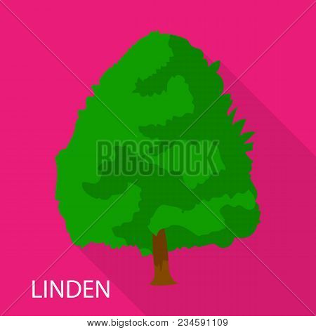 Linden Icon. Flat Illustration Of Linden Vector Icon For Web