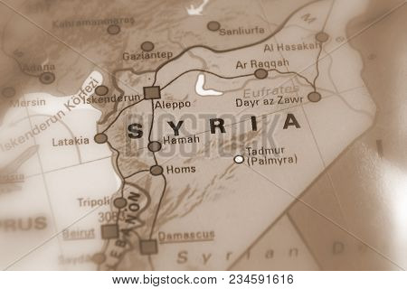 Syria, Syrian Arab Republic. (black And White Selective Focus). (sepia Selective Focus).