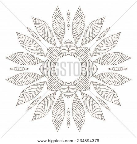 Primitiv Ethnic Ornament. Vector Abstract Line Background.