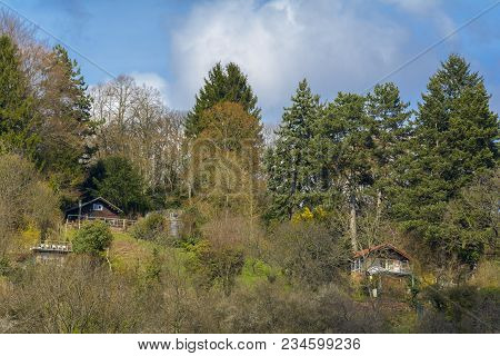 Holiday Cottages In The Middle Of The Forest, On The Hill Of Heidelberg City, Baden Wurttemberg, Ger