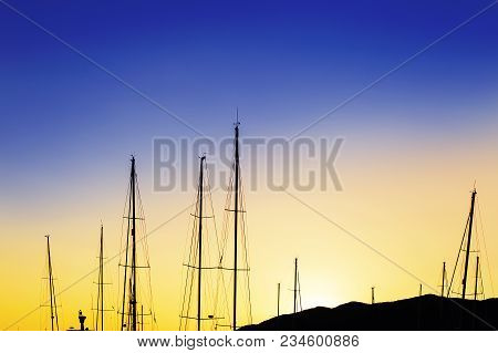 Sunset In The Mountains, Masts In The Sun