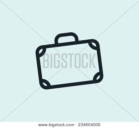 Suitcase Icon Line Isolated On Clean Background. Suitcase Icon Concept Drawing Icon Line In Modern S