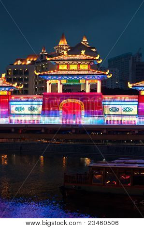 Colorful Lightup During Mooncake Festival