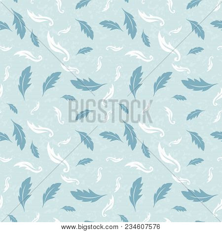 Seamless Colorful Floral Pattern. Vector Background With Abstract Leafs. Patterned Paper Wallpaper F